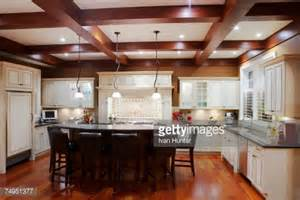 Centre Islands For Kitchens Contemporary Kitchen With Center Island And Stool Stock Photo Getty Images
