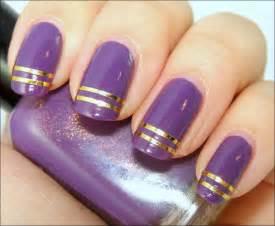 Purple nail art designs acrylic