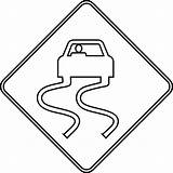 Road Signs Coloring Clipart sketch template