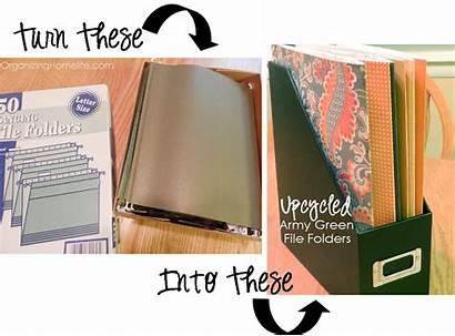 Folders Upcycled Army Office Organizing Hanging Folder
