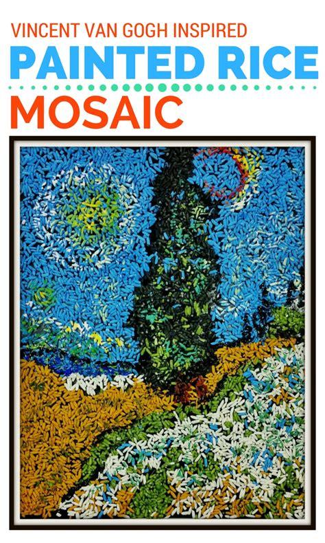 mosaic art project  kids inspired  vincent van gogh