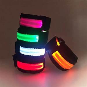 Warnings Band LED Lights Wrist Band RGB LED Sports Armband