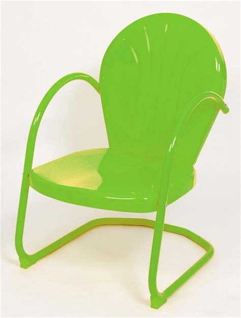 2 retro metal tulip outdoor chairs lime green new ebay
