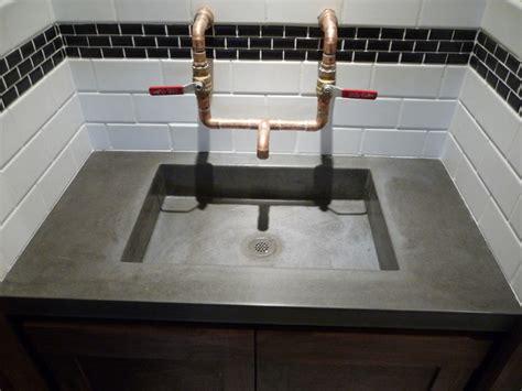 garage bathroom ideas the quot garage quot bar concrete sink modern bathroom salt lake city by future form designs