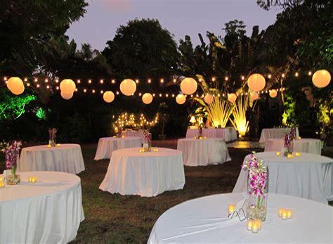 Dazzling, Outdoor, Evening Wedding Reception