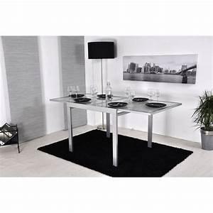 Table Extensible Grise : extend table extensible grise 90 180cm achat vente table a manger seule extend table ~ Teatrodelosmanantiales.com Idées de Décoration