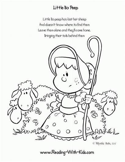 Rhymes Nursery Coloring Preschool Pages Popular