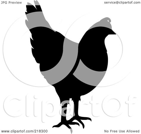 royalty free rf clipart illustration of a black chicken silhouette by pams clipart 218300