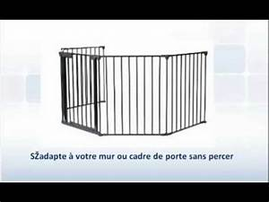Barriere De Securite Escalier Sans Vis : barri re de s curit b b enfant en m tal 300 cm youtube ~ Premium-room.com Idées de Décoration
