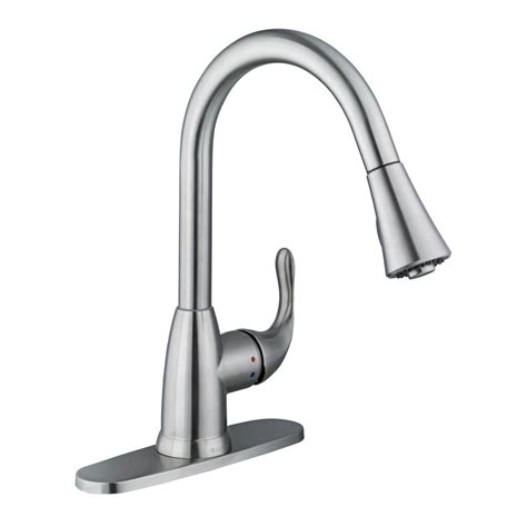 glacier bay kitchen faucets installation glacier bay market single handle pull down sprayer kitchen faucet in stainless steel 67551