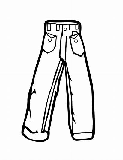 Coloring Pants Pages Jeans Clipart Colouring Jean