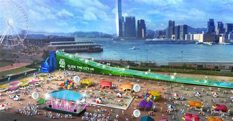 outdoor slide set slide the city