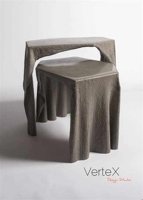 fabric concrete coffee table