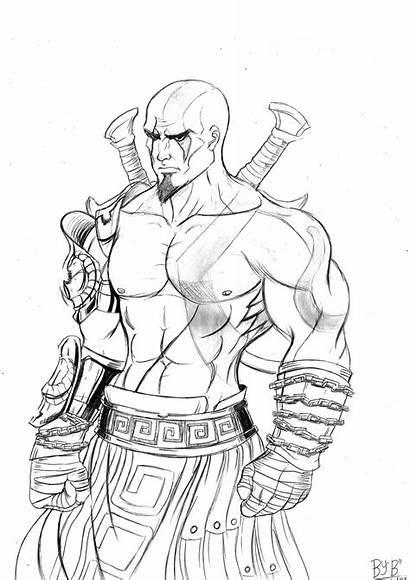 Kratos Colorir Desenhos Mortal Desenho Kombat Pintar