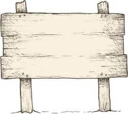 Old Wooden Sign Clip Art