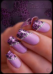 Purple nail art designs picture