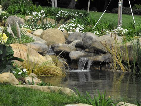 garden waterfall pond santa barbara garden ponds garcia rock and water design blog