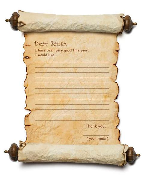 letter  santa templates dear santa list  coloring