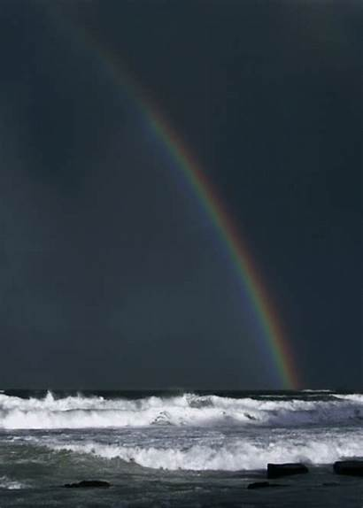 Rainbow Clouds Natural Gifs Animated Nature Con