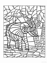 Mosaic Coloring Animal Creative Haven Mosaics Doverpublications sketch template
