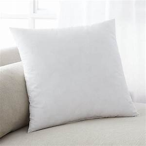 feather down 18quot pillow insert crate and barrel With best down pillow inserts