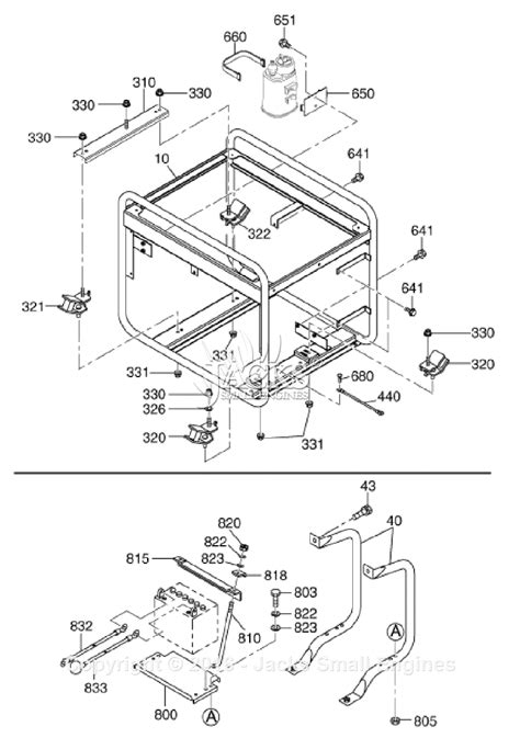 robin subaru rgx6500 parts diagram for frame