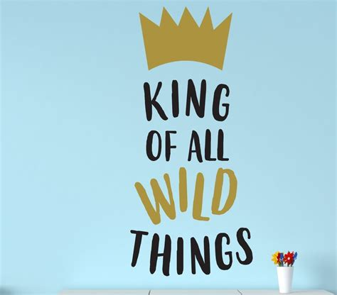Where The Things Are Bedroom by Wall Decal For King Of Things Where The