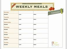 6 Best Images of Printable Daily Food Planner Daily Meal