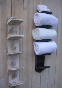 bathroom towel racks ideas handmade towel rack bath decor wood shabby cottage