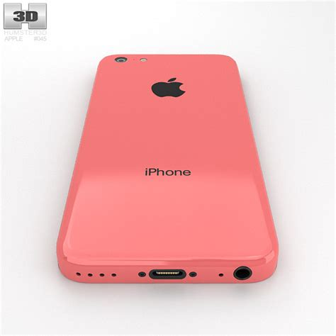iphone 5c in pink apple iphone 5c pink 3d model humster3d