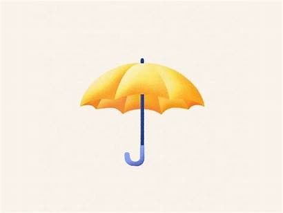 Umbrella Rain Dribbble Open