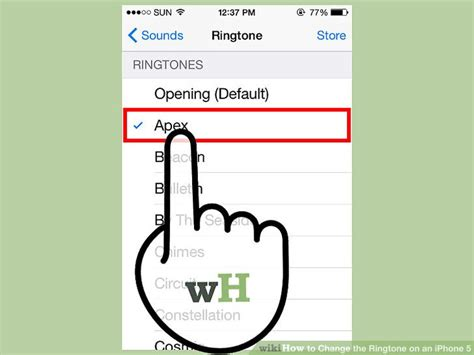 to change ringtone on iphone 5 4 ways to change the ringtone on an iphone 5 wikihow