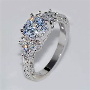 Splendent white stone stylish jewelry women men wedding for Wedding engagement rings for women