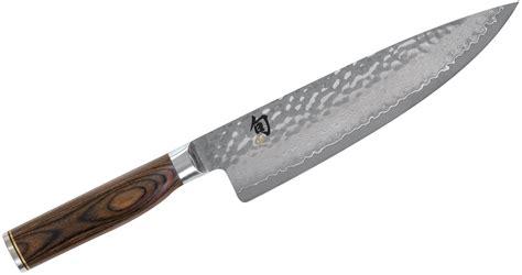 """Shun Tdm0706 Premier Chef's Knife 8"""" Hammered Blade"""