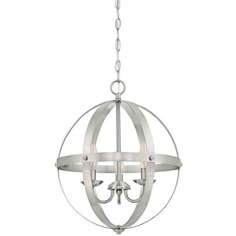 brushed nickel pendant light westinghouse stella mira 3 light brushed nickel pendant