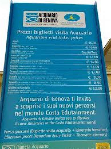 quanto costa l ingresso all acquario di genova prezzi dell acquario di genova viaggiamo