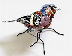 beautiful sculptures of animals created from recycled With birds made from recycled metal scraps by barbara franc