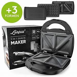 Waffeleisen Und Sandwichmaker : liebfeld 750w 3in1 sandwich maker kontaktgrill ~ Watch28wear.com Haus und Dekorationen