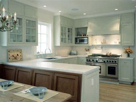 U Shaped Kitchen Designs Kitchen Design I Shape India For