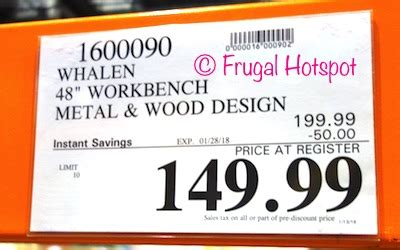 costco sale whalen  industrial metal  wood