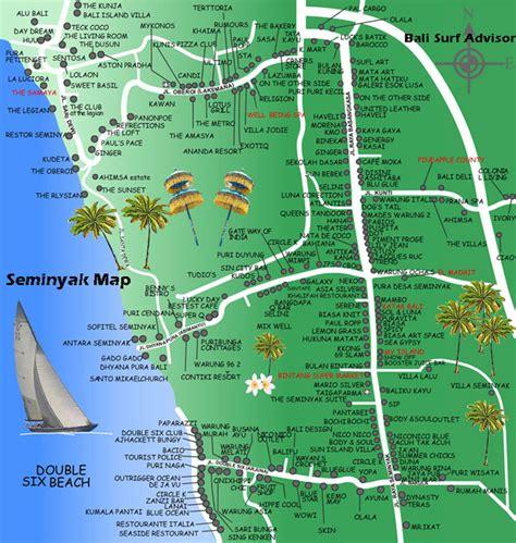 seminyak map bali kuta map bali voyage