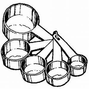 Measuring cups and spoons clipart collection
