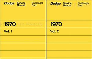 1970 Dodge Dart Wiring Diagram Manual Reprint