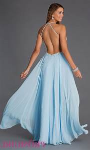 blue lace prom dress open back Naf Dresses