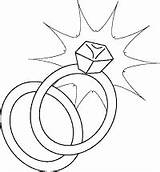 Coloring Ring Printable Rings Diamond Sheet Engagement Band Clipart Line sketch template