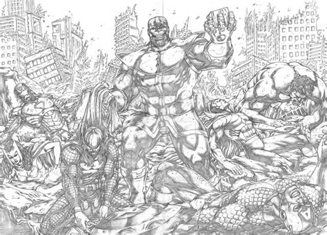 avengers vs thanos coloring pages avengers vs thanos by markmarvida on deviantart