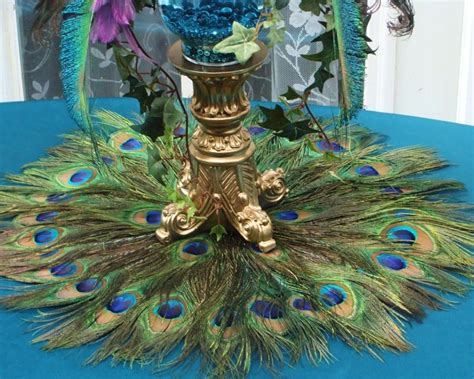 sale ready to ship 22 quot peacock feather place mat or