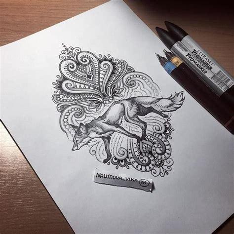 tatouage renard mandala