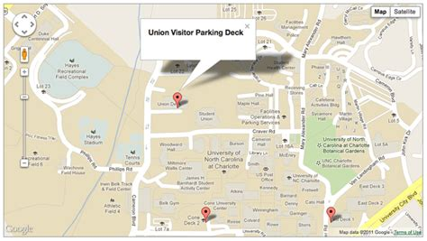 Directions To Cobb Parking Deck Unc by Directions And Parking Student Union Unc