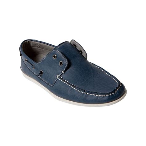 Madden Graham Boat Shoes by Steve Madden Gamer Laceless Boat Shoes In Blue For Lyst